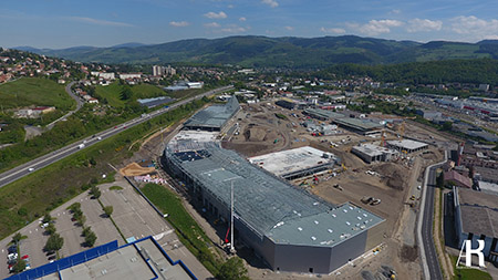 La construction de Steel vue du ciel
